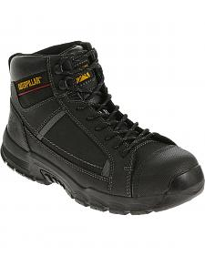 Caterpillar Men's Black Regulator Work Boots - Steel Toe