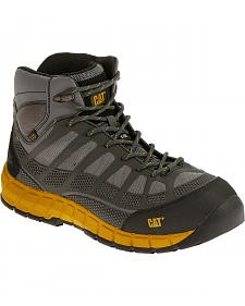Caterpillar Men's Grey Streamline Mid ESD Work Boots - Composite Toe