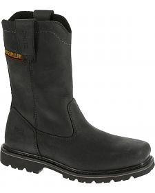 Caterpillar Men's Black Wellston Work Boots - Steel Toe