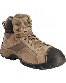 Caterpillar Men's Grey Argon Hi Lace-Up Work Boots - Composite Toe