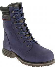 Caterpillar Women's Purple Echo Waterproof Work Boots - Steel Toe