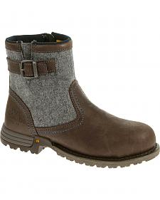 Caterpillar Women's Brown Jace Waterproof Work Boots - Steel Toe