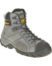 Caterpillar Men's Grey Argon Hi Work Boots - Composite Toe