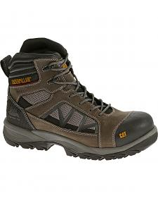 "Caterpillar Men's Compressor 6"" Waterproof Work Boots - Soft Toe"