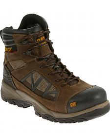 "Caterpillar Men's Compressor Clay 6"" Waterproof Work Boots - Composite Toe"