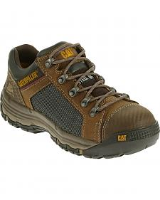 Caterpillar Men's Light Brown Convex Lo Work Shoes - Steel Toe