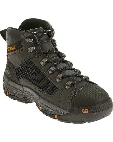 Caterpillar Men's Black Convex Mid Work Boots - Steel Toe