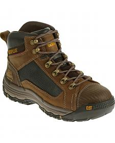 Caterpillar Men's Dark Beige Convex Mid Work Boots - Steel Toe