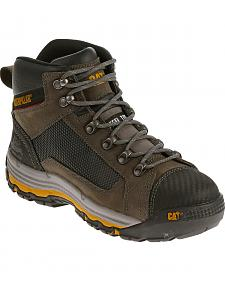 Caterpillar Men's Dark Grey Convex Mid Work Boots - Steel Toe