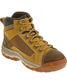 Caterpillar Men's Honey Brown Convex Mid Work Boots - Steel Toe