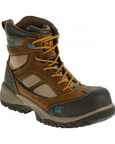 "Caterpillar Women's Shaman 6"" Waterproof Work Boots - Composite Toe"