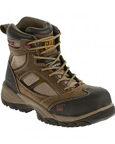 "Caterpillar Women's Taupe Shaman 6"" Waterproof Work Boots - Composite Toe"