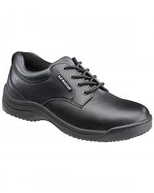 SkidBuster Women's Black Slip-Resistant Oxford Work Shoes