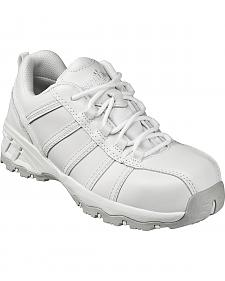 Nautilus Women's White Metal Free Athletic Work Shoes - Composite Toe