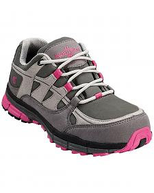 Nautilus Women's Pink & Grey Lightweight ESD Athletic Work Shoes - Steel Toe