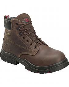 "Avenger Men's Waterproof 6"" Lace-Up Work Boots - Composite Toe"
