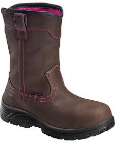 Avenger Women's Waterproof Wellington Work Boots - Composite Toe