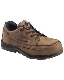 Nautilus Men's Brown EH Carbon Nanofiber Casual Work Shoes - Composite Toe