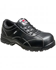 Avenger Women's Black Oxford Work Shoes - Composite Toe