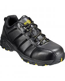 Men's Nautilus Men's Black Metal Free Work Athletic Shoes - Comp Toe