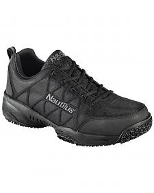 Nautilus Men's Black Athletic Work Shoes - Composite Toe