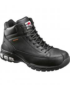 Avenger Men's Black Lace-Up Work Boots - Composite Toe