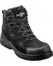 Nautilus Men's Black Metal Free Waterproof Lace-Up Work Boots - Composite Toe