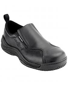 Nautilus Men's Black Ergo Slip-On Work Shoes - Comp Toe