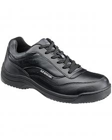 SkidBuster Men's Black Slip-Resistant Athletic Work Shoes