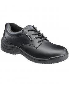 SkidBuster Men's Black Slip-Resistant Oxford Work Shoes
