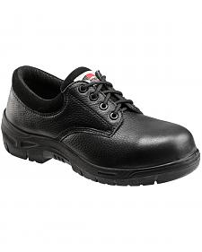 Avenger Men's Black Oxford Work Shoes - Composite Toe