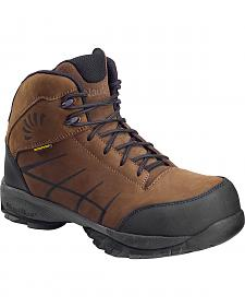 Nautilus Men's Brown Hiker Waterproof SD Work Boots - Composite Toe