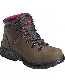 "Avenger Women's Waterproof 6"" Lace-Up EH Work Boots - Round Toe"