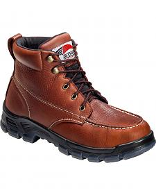 Avenger Men's Brown Waterproof Moc Toe Work Boots - Steel Toe