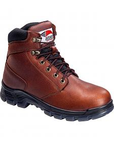 Avenger Men's Brown Waterproof Work Boots - Steel Toe