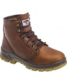 "Avenger Men's Brown 6"" Lace-Up Work Boots - Steel Toe"