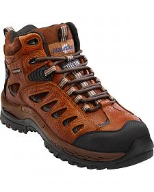 Nautilus Men's Brown Waterproof Lace-Up Work Boots - Steel Toe
