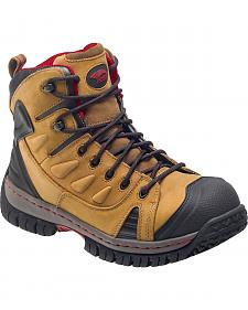 Avenger Men's Brown Waterproof Hiker Work Boots - Steel Toe
