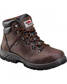 Avenger Men's Brown Waterproof Hiker EH Work Boots - Round Toe