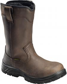 Avenger Men's Waterproof Wellington Work Boots - Round Toe