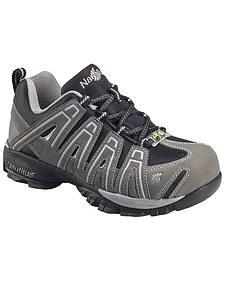 Nautilus Men's Grey Lightweight Athletic Work Shoes - Soft Toe