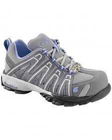 Nautilus Women's Blue Grey Lightweight SD Athletic Work Shoes - Soft Toe