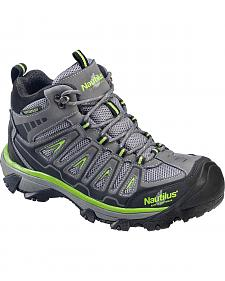 Nautilus Men's Lightweight Waterproof HIker Work Boots - Steel Toe