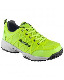 Nautilus Men's Neon Green Athletic Work Shoes - Composite Toe