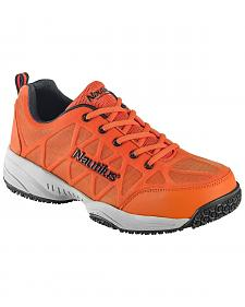 Nautilus Men's Orange Athletic Work Shoes - Composite Toe
