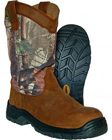 Itasca Men's Camo Python Waterproof Pull-On Work Boots - Steel Toe