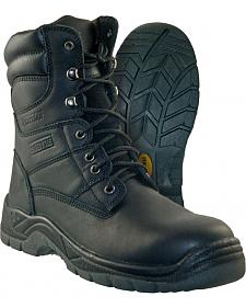 Itasca Men's Authority Black Waterproof Work Boots - Safety Toe