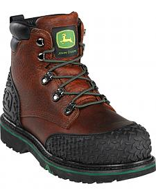 "John Deere Men's 6"" Lace-Up Work Boots - Steel Toe"