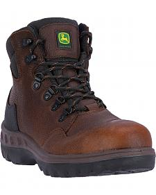 "John Deere Men's 6"" Waterproof Hiker Work Boots - Steel Toe"