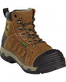 "John Deere Men's 6"" Waterproof Lace-Up Work Boots - Safety Toe"